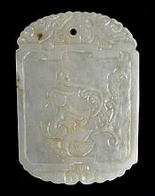 19th C. Chinese White Jade Pendant