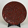 16/17th c. Decorative Chinese Red Lacquer Plate
