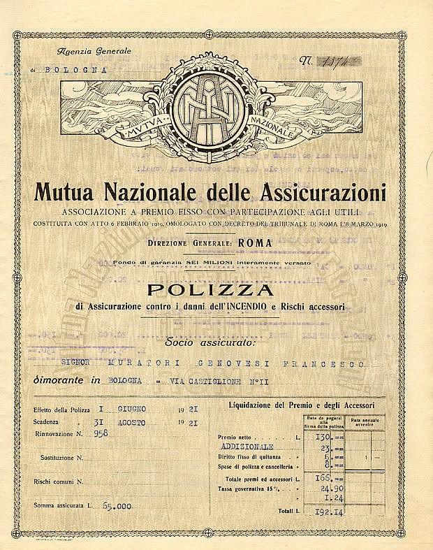 Mutua Nazionale delle Assicurazioni - Associazione a Premio fisso con partecipazione agli Utili