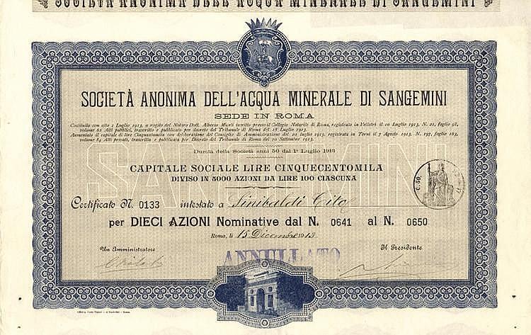 S.A. dell'Acqua Minerale di Sangemini