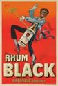 Rhum Black. ca. 1920. Rare Poster