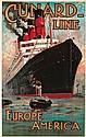 Cunard Line / Aquitania. 1914
