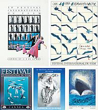 Five Cannes Film Posters. 1982, 1985, 1987- 1989