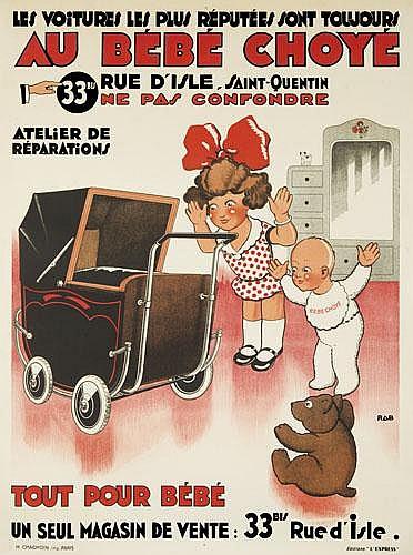 POSTER: POL RAB (1898-1933) - Au Bébé Choyé.