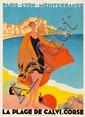 La Plage de Calvi. Corse. 1928