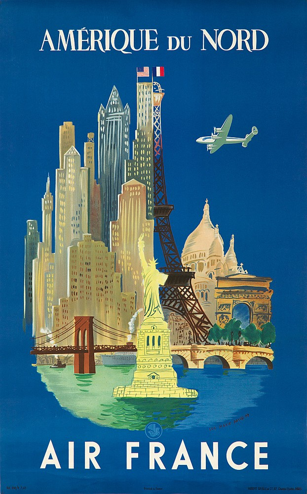 Air France / Amerique du Nord. 1948