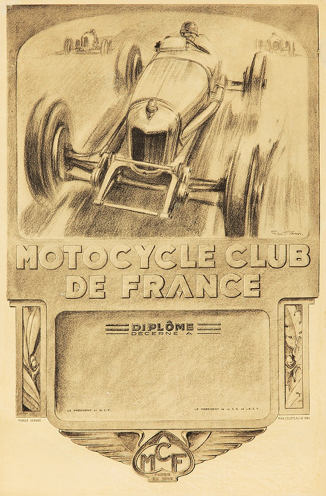 Motocycle Club de France. ca. 1932