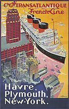 Transatlantique / Hâvre, Plymouth, New-York. 1922