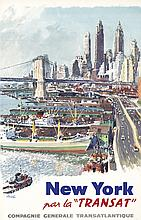 New York / Transat. ca. 1955