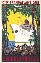 Transatlantique / Ligne des Antilles. 1950