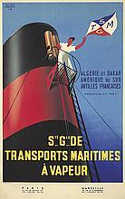 Transporte Maritimes à Vapeur. ca. 1950
