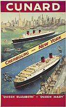 Cunard / Cherbourg-New York.