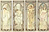 Times of the Day. 1899, Alphonse Maria Mucha, $42,000
