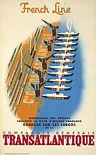French Line / Transatlantique. 1948