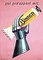 ORIG 1950s Swiss BINACA Toothpaste Poster BRUN Design