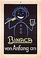 Original 1940s Swiss Binaca Toothpaste Poster Plakat