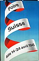 2 Old Original 1940s Swiss Fair Design Posters