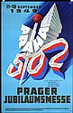 Original 1940s Czech Prague Fair Travel Poster