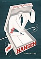 Original 1940s German Clothing Poster Plakat EHLERS Art