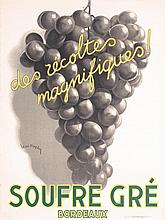 Great Original 1930s French Wine Poster LEON DUPIN