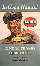 Original 1940s Amoco Automobile Poster