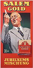 Rare Original 1930s German Cigarette Poster HOHLWEIN ?