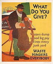 Original 1920s Mather Work Poster WHAT DO YOU GIVE