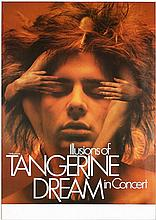 Original 1980 SIGNED KIESER Rock Poster TANGERINE DREAM