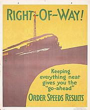 Original 1929 Mather Work Poster Chicago RIGHT OF WAY