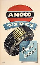Great Original 1940s Amoco Auto Tire Poster
