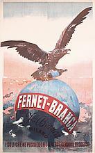 Original 1890s Fernet Branca Italian Liquor Poster