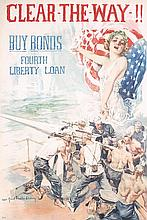 Original American World War I Poster Christy Clear Way