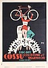 Original 1930s Itallian Sardegna Bicycle Poster MAGA
