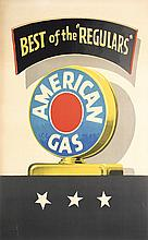 Original 1940s Amoco Automobile Gas Poster