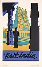 Beautiful Original 1950s India Travel Poster