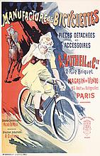 Original French Bicycle Poster Plakat 1900s