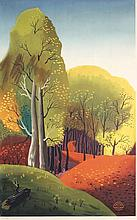 Rare Old Original 1930s Kauffer London Transport Poster