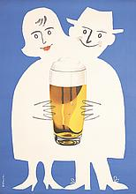 Original Vintage 1950s German Beer Poster