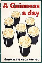 FANTASTIC Huge Original 1930s Guinness Beer Poster UK