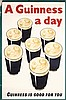 FANTASTIC Huge Original 1930s Guinness Beer Poster UK