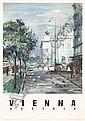 Original 1950s Vienna Austria Travel Poster