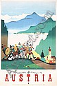 Original 1950s Austria Travel Poster Kosel