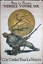 2 Famous Original French World War I Posters FAIVRE + JONAS