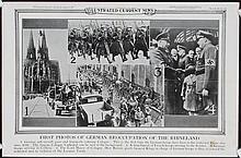 Set of 3 Original World War II Illustrated News Posters