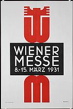 Set of 3 Original 1930s/60s Vienna Fair Posters KOSEL D