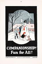 Set of 2 Original 1930s Hope Of Nation Posters Snowman
