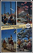 Original 1950s KLM Airline Travel Poster