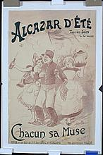 Original 1890s/1900s French Theater Poster WILLETTE Art