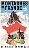 Original 1930s French Mountain Travel Poster PONTY Art