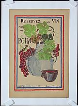 Original French World War I Wine for Soldiers Poster